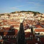 Смотровая площадка на лифте Santa Justa, Лиссабон