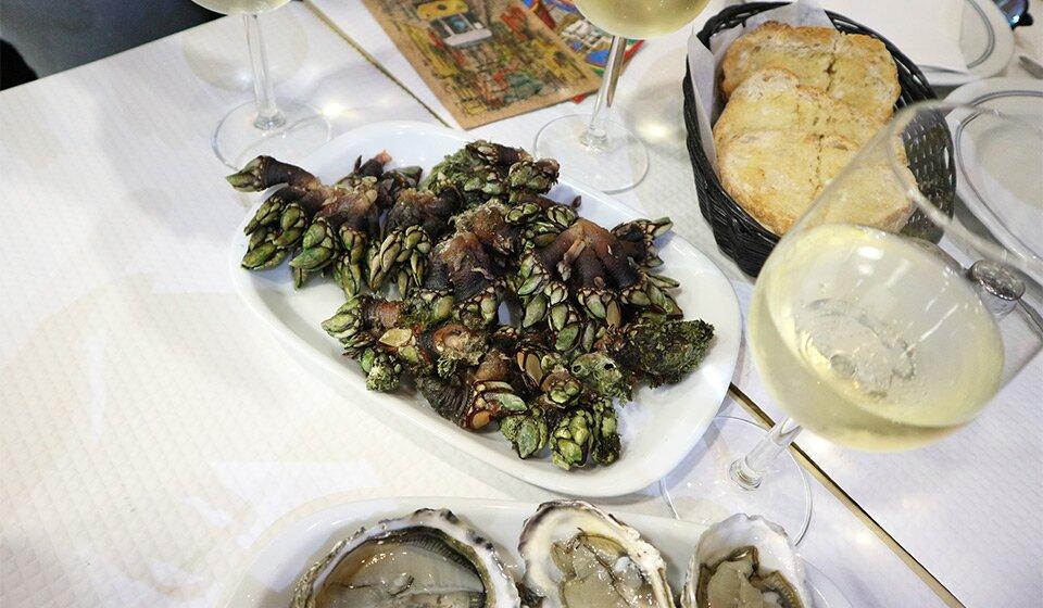 Морские уточки в ресторане Barcabela, Лиссабон