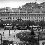 Площадь Росиу, Лиссабон, 1947-й год. Фото CML