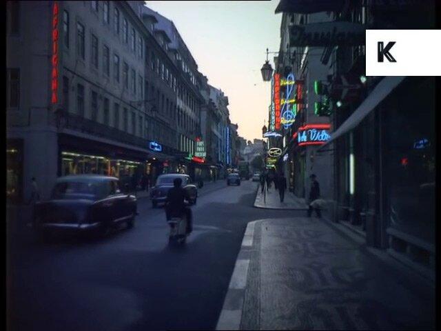 Ночной Лиссабон 1960-х и неоновые вывески